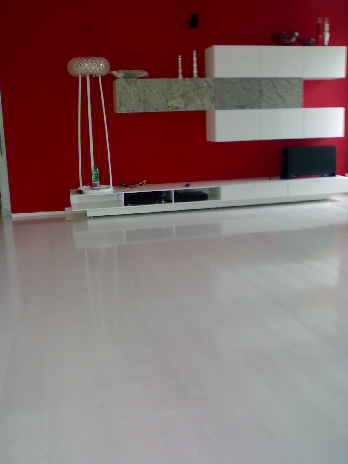 Pavimento bianco lucido simple clicca per ingrandire - Piastrelle con brillantini ...